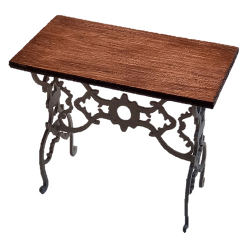 157 Rustic table with wooden top