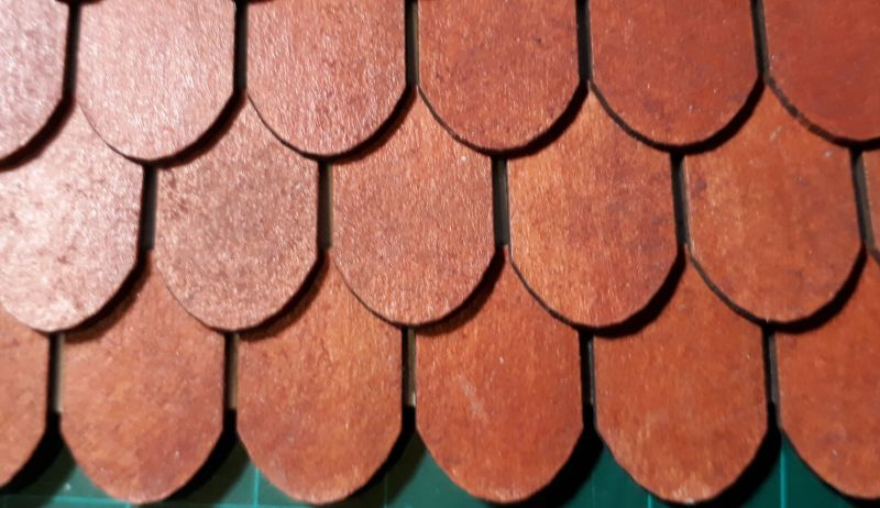 4015 1:144 Roof tiles round